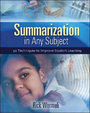 Summarization in Any Subject: 50 Techniques to Improve Student Learning cover