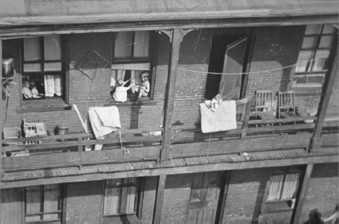 Tenement houses offered cheap rent but overcrowded, squalid conditions.