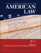 Gale Encyclopedia of American Law, ed. 3