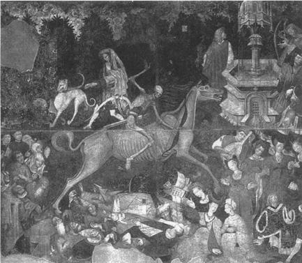 The Triumph of Death, by an anonymous Sicilian artist, circa 1445 (Galleria Nazionale da Sicilia, Palermo)