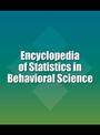 Encyclopedia of Statistics in Behavioral Science cover