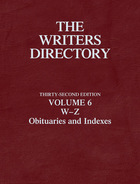 The Writers Directory, ed. 32