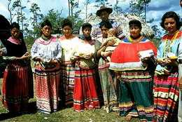 Seminoles in traditional dress