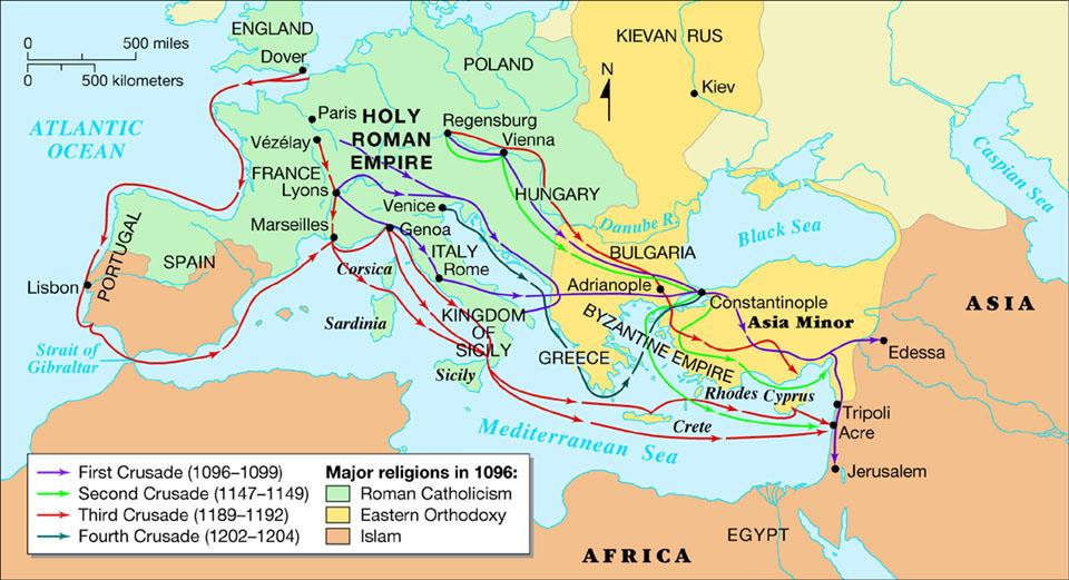Third Crusade Map   D.B's Frederick I