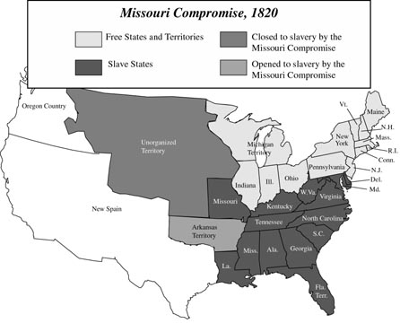 Missouri Compromise Of Map Of US History In Context - Map of us in 1820