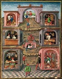 <pres:italics>De Sphaera</pres:italics>, a 15th century illuminated manuscript by Lombard..