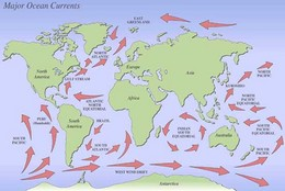 Science in context topic illustrated map of the major ocean currents around the world gumiabroncs Image collections