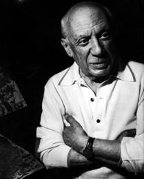 Pablo Picasso at His Home in Notre-Dame-de-Vie, Circa 1967