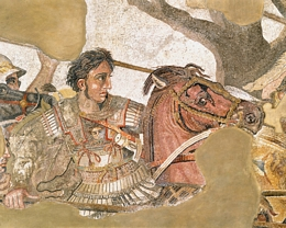 Detail of Alexander the Great from The Battle of Issus Roman Mosaic