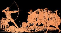Odysseus Slays Penelope's Suitors Upon His Return Home