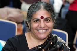 Civil rights activist Vandana Shiva, laureate of the alternative nobel prize of 1993, is pictured at ...