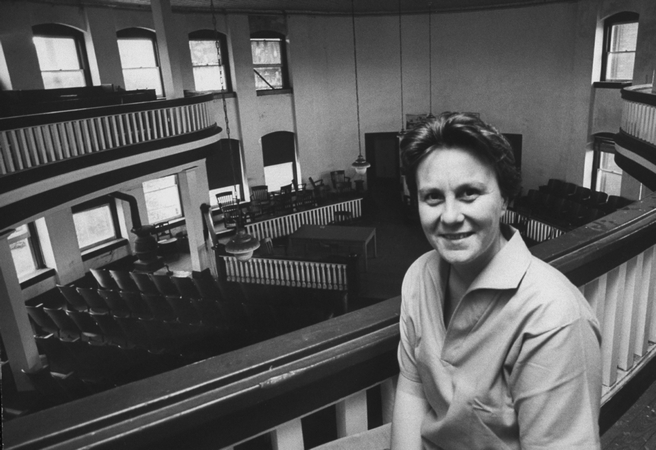 Harper Lee in Courthouse in Monroeville, Alabama