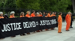 Human Rights Demonstrators Arrested Near White House