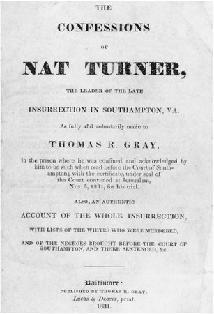 the confessions of nat turner u s history in context after murdering the title page of the original edition of the confessions of nat turner clements library