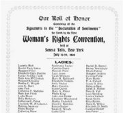 declaration of sentiments   u s  history in contextcard listing the signatories to the declaration of sentiments