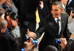 President Obama Hosts The First White House Twitter Townhall In Washington