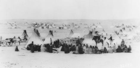 Waiting for Rations. This 1890 photograph by George Trager shows ...