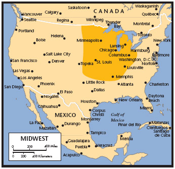 United States Midwest Region Student Resources In Context - 1800s us mid western states maps