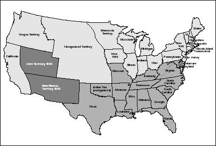 The Missouri Compromise Of Divided The United States Into - Map of us in 1820