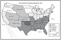 Map Of Slave And Free Areas Of The United States 1854 At The Time