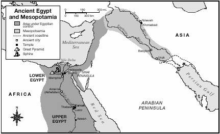 Ancient Religions Of Egypt And Mesopotamia World History In Context - Map of egypt mesopotamia and israel