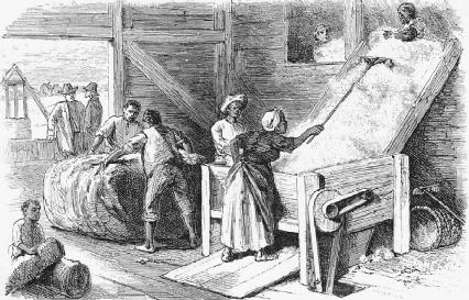 The emergence of the cotton gin meant that more slaves were needed to pick the crops because the work once done by hand was now done much faster by machine.