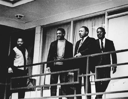 Martin Luther King Jr. at a Tennessee hotel shortly before his assassination.