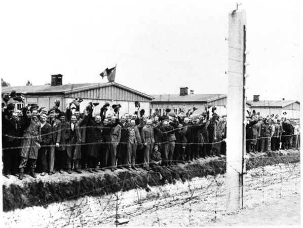 Survivors of WWII Concentration Camp in Dachau, Germany.