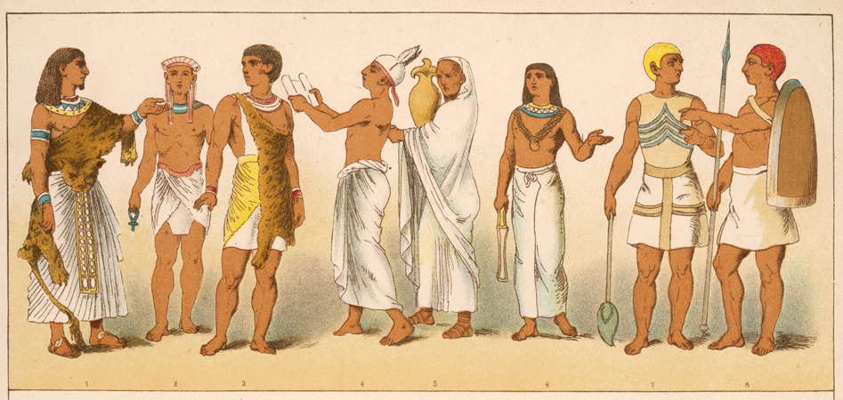 Egyptian priests. In ancient Egypt the priests performed rituals to honor the gods.