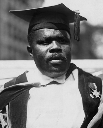 Civil rights leader Marcus Garvey, 1921.