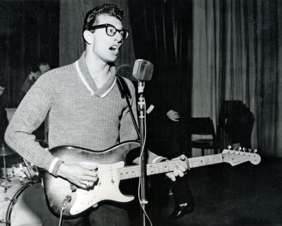 Buddy Holly performing.