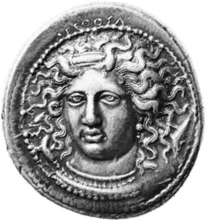 A silver coin from about 400 bc shows a mythological figure called a nymph.