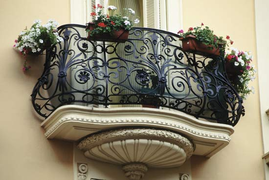 Iron is often used to make such decorative items as railings and fences.