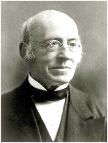 William Lloyd Garrison (1805–1879), prominent abolitionist, founder of the American Anti-Slavery Society, and editor of the abolitionist newspaper The Liberator.