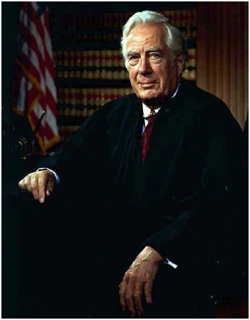 Warren Burger, chiefjustice of the United States, 1969–1986.
