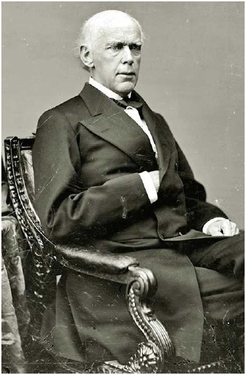 Salmon P. Chase, politician, cabinet secretary, and chief justice of the United States, 1864–1873.