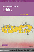 An Introduction to Ethics, ed. , v.