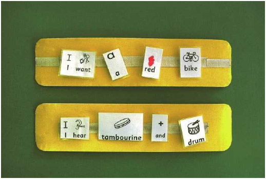 There are many tools like this picture exchange communication system that help the language skills of autistic children.