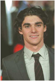 R.J. Mitte, actor, played Walt Jr. on the television show Breaking Bad, 2008–2013. Like his character on the show he has mild cerebral palsy.