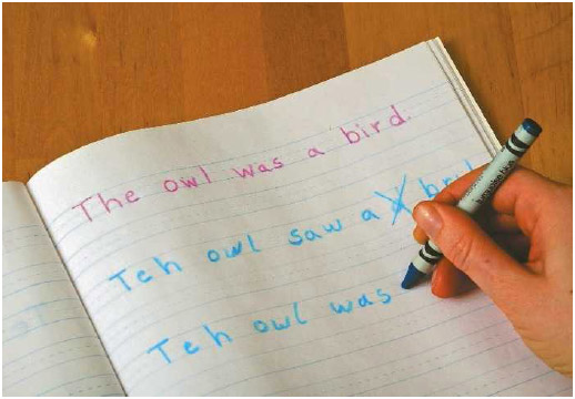 Students with dyslexia often have trouble with writing and spelling as well as reading.