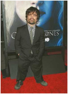 Peter Dinklage, actor on Game of Thrones, has achondroplasia, a genetic condition that affects bone growth. A person with this form of dwarfism usually has a normal-sized head and torso but short limbs.