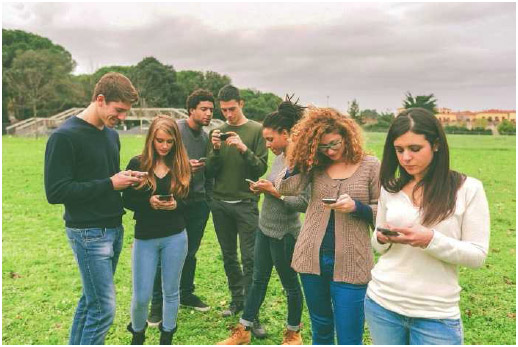 Mobile phones give teens access to the Internet and social media 24 hours a day.