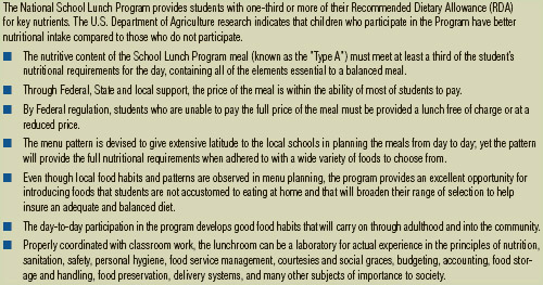 School Lunch Program Approaches to Helping Solve Malnourishment