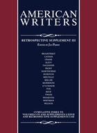 American Writers, Retrospective Supplement 3, ed. , v.