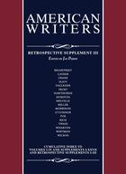 American Writers, Retrospective Supplement 3