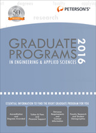 Peterson's® Graduate Programs in Engineering & Applied Sciences 2016, ed. 50, v.
