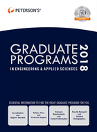 Peterson's® Graduate Programs in Engineering & Applied Sciences 2018, ed. 52, v.