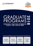 Peterson's® Graduate Programs in Business, Education, Information Studies, Law & Social Work 2018, ed. 52, v.