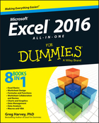 Excel® 2016 All‐in‐One For Dummies®, ed. , v.