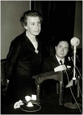 Psychologist Dr. Anna Freud, the youngest daughter of Dr. Sigmund Freud.